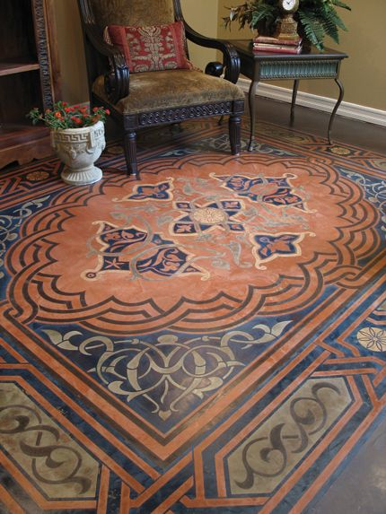 SkimStone and Modello Designs Stencil Workshop at Royal Design Studio - Decorate your floor with pattern and color