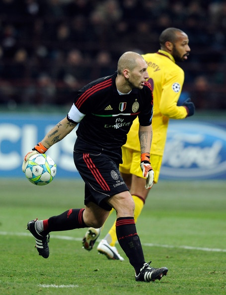 Christian Abbiati (born 8 July 1977 in Abbiategrasso, Milan) is an Italian professional footballer who plays as a goalkeeper for Serie A club Milan.    Abbiati was left off the 2006 World Cup roster but he was recalled to the national team in September 2006. In March 2009, three days before his season-ending knee injury, he said that he would refuse a future call-up for Italy in a non-starting role.