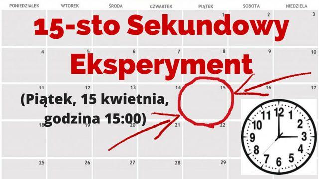 Czy myśli mają wpływ na rzeczywistość? Zdanie są naturalnie podzielone ale wyjątkowa okazja, żeby tego dowieść będzie mieć miejsce 15 kwietnia, o godzinie 15:00... http://bloggingnetworkonline.com/Polska/15-sto-sekundowy-eksperyment/