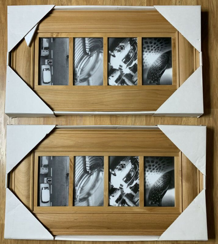2 Umbro Natural Wood Multi 4 Photo Frames 12 X 22 In 2020 Rustic Picture Frames Wood Picture Frames Frame