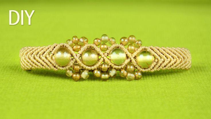 Wavy Chevron Bracelet with Beads - Tutorial .5 mm cord, 6 - 8 mm beads, 24 - 4 mm beads