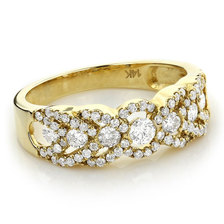 unique diamond wedding band for women 14k gold ladies