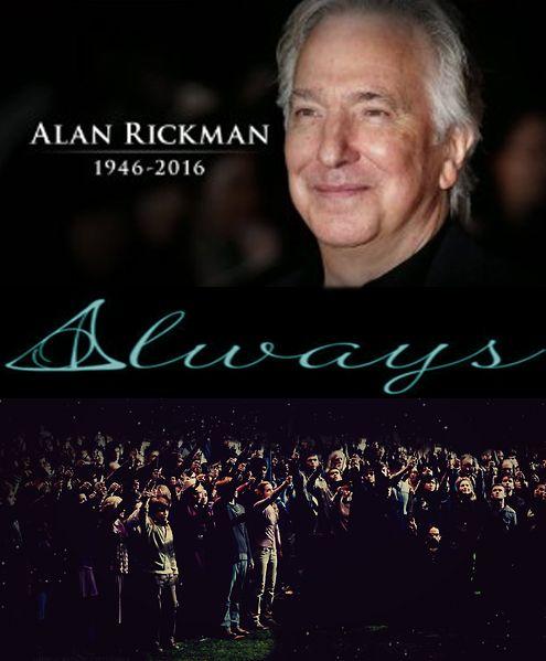 Rest in peace Alan Rickman.    Tellement decu de ne pas l'avoir rencontrer avant. Mais sa restera toujours un grand acteur.