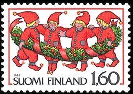 Joulupostimerkki 1986 - Tontut