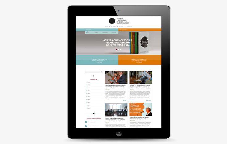 Diseñamos nuevo sitio web para el Premio Periodismo de Excelencia de la Universidad Alberto Hurtado. Esta nueva plataforma unifica ambas categorías, tiene una retrospectiva histórica y permite postulación online. http://periodismo.uahurtado.cl/ppe