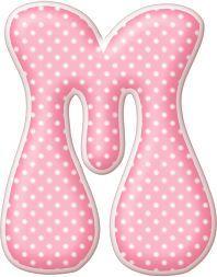 Alfabeto rosa con lunares blancos. | Oh my Alfabetos!