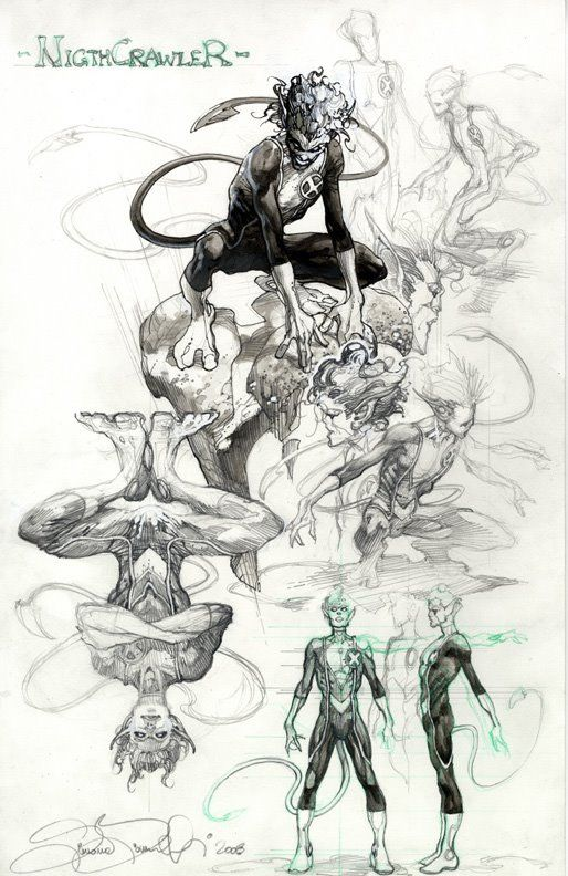 Astonishing X-Men Nightcrawler sketches by Simone Bianchi ✤ || CHARACTER DESIGN REFERENCES | キャラクターデザイン • Find more at https://www.facebook.com/CharacterDesignReferences if you're looking for: #lineart #art #character #design #illustration #expressions #best #animation #drawing #archive #library #reference #anatomy #traditional #sketch #development #artist #pose #settei #gestures #how #to #tutorial #comics #conceptart #modelsheet #cartoon || ✤