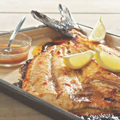 South African Snoek Fish With Apricot Jam - recipe from Martin van Deventer - Snoek is delicious with a touch of sweetness & a mild spice like cumin - try it in the oven or on the braai ...
