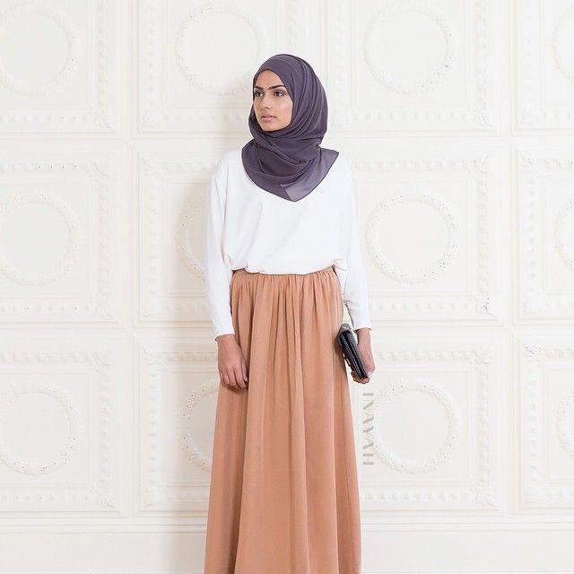 INAYAH | White Crepe #Top + Plum Georgette #Hijab + Camel #Skirt www.inayahcollection.com #maxiskirt #inayahclothing #modeststyle #modesty #modestfashion #hijabfashion #hijabi #hijabifashion #covered #Hijab #jacket #midi #dress #dresses #islamicfashion #modestfashion #modesty #modeststreestfashion #hijabfashion #modeststreetstyle #modestclothing #modestwear #ootd #cardigan #springfashion #INAYAH #covereddresses #scarves #hijab #style