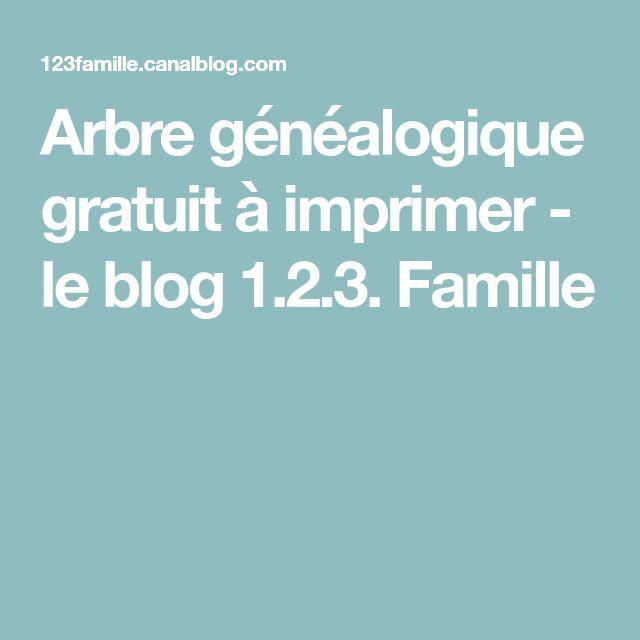 Arbre généalogique gratuit à imprimer - le blog 1.2.3. Famille