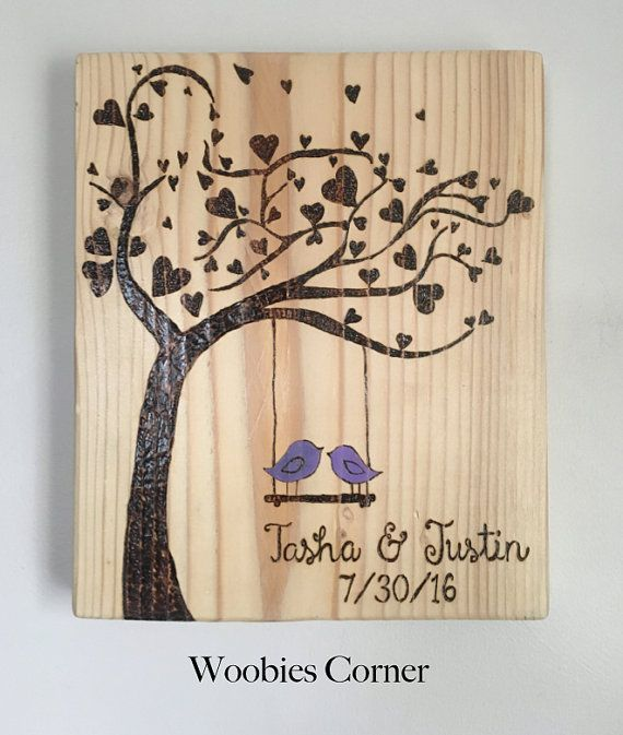 Custom Wedding sign Wood burned wedding sign by WoobiesCorner