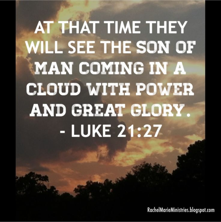 """""""There will be signs in the sun ☀️, moon and stars ⭐️. On the earth , nations will be in anguish and perplexity at the roaring and tossing of the sea People will faint from terror, apprehensive of what is coming on the world, for the heavenly bodies will be shaken. At that time they will see the Son of Man coming in a cloud with power and great glory. - Luke 21:25-27 (NIV)"""
