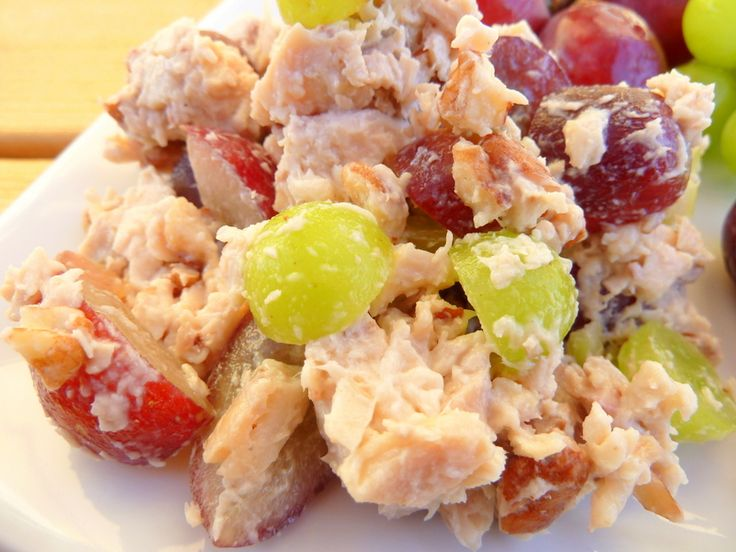 This is no ordinary chicken salad. I used not one, not two, but three types of grapes to sweeten up this dish. Triple Grape Chicken Salad I found a grocery store near me that carried the two types of grapes