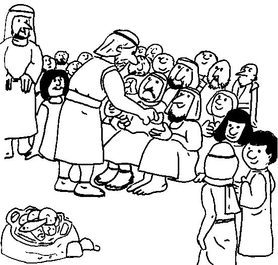 disciples feeding hungry till they were full and when jesus had the disciples pick up