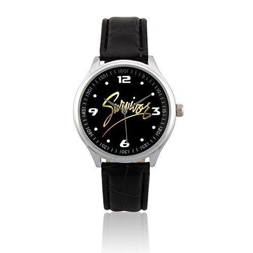 Fashion Adult Wrist Watch Leather Band PSL442 Survivor Band Logo W >>> Click image for more details.
