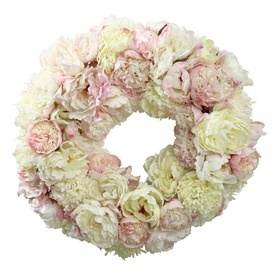 silk flower wreath. I wonder if I can make it with paper coffee filter roses?