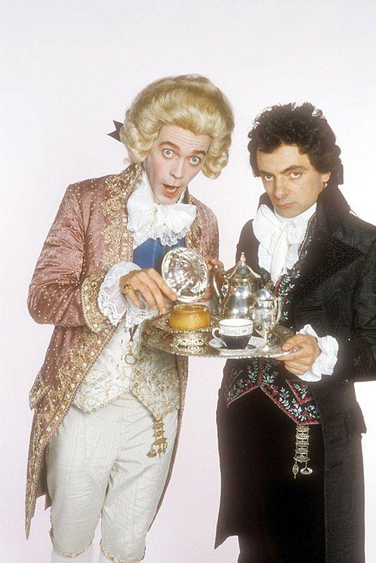 Hugh Laurie as Prince George and Rowan Atkinson as Mr. E. Blackadder in Blackadder the Third