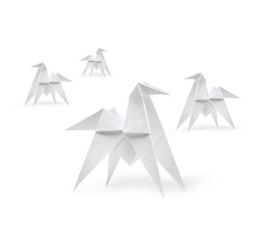 A cheval! Set de 4 chevaux origami parfumés, 13,5 x 13,5 x 5,5 cm