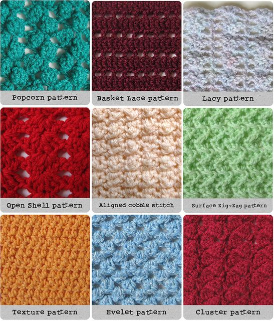 Different Types Of Knitting Stitches With Pictures : Best 25+ Different crochet stitches ideas on Pinterest Crochet stitches fre...