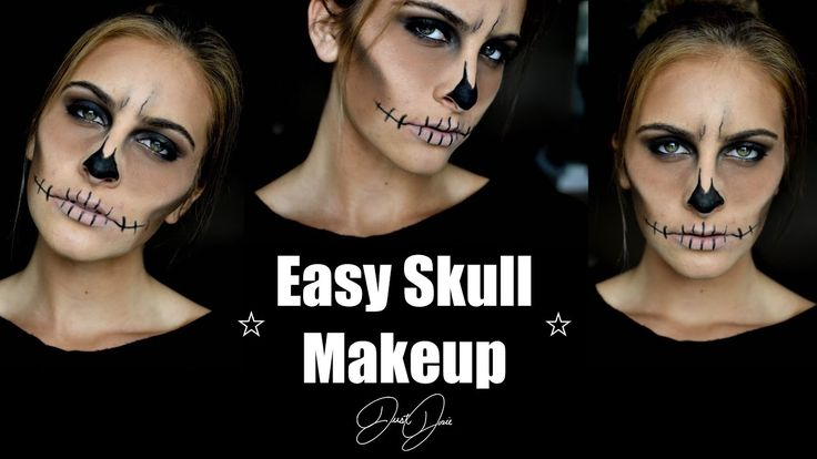 Easy Skull Halloween Makeup Tutorial | JustJosie