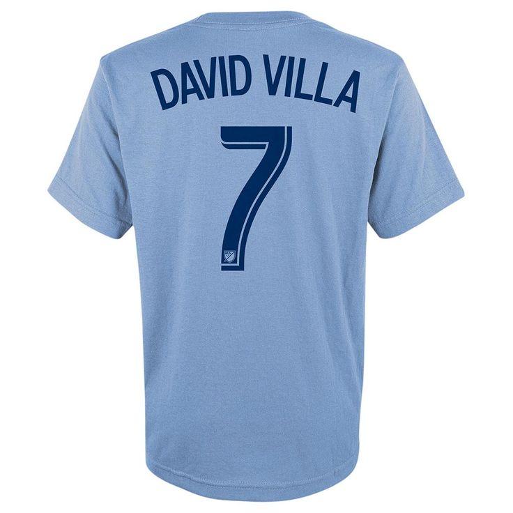 Adidas New York City FC David Villa Player Name and Number Tee - Boys 8-20, Size: Medium, Ovrfl Oth