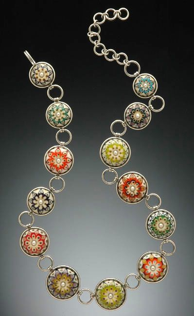 Kristina Logan lampwork glass necklace (kristinalogan.com)