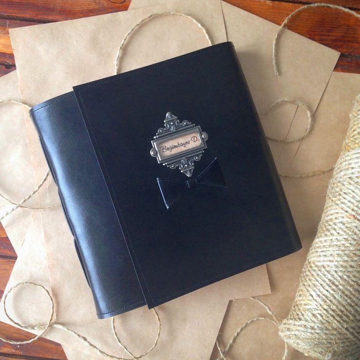 Мужской софт-скетчбук на веерном переплёте с петлями для ручек/карандашей/линеров