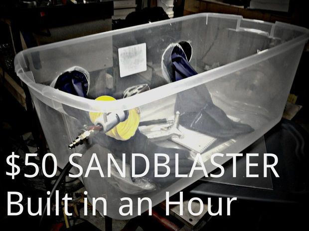 A complete how-to for a $50 homemade sandblaster. Read the comments, too, many are helpful.