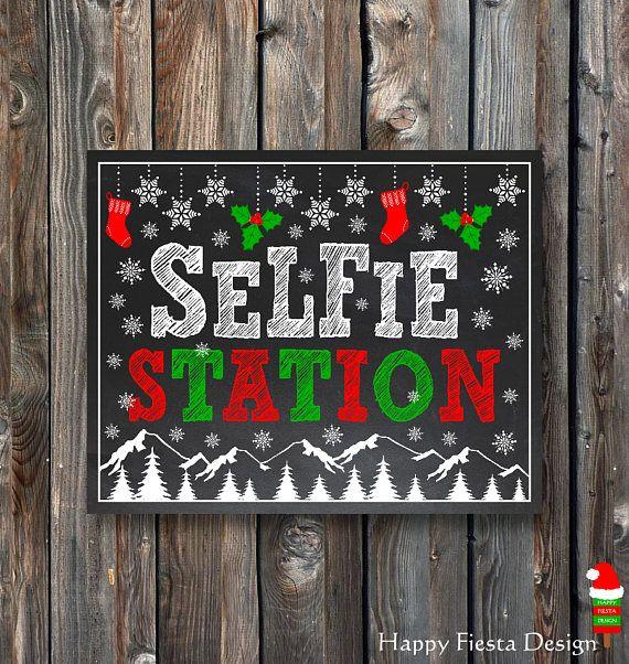 PRINTABLE Christmas Selfie StationChristmas Photo Booth