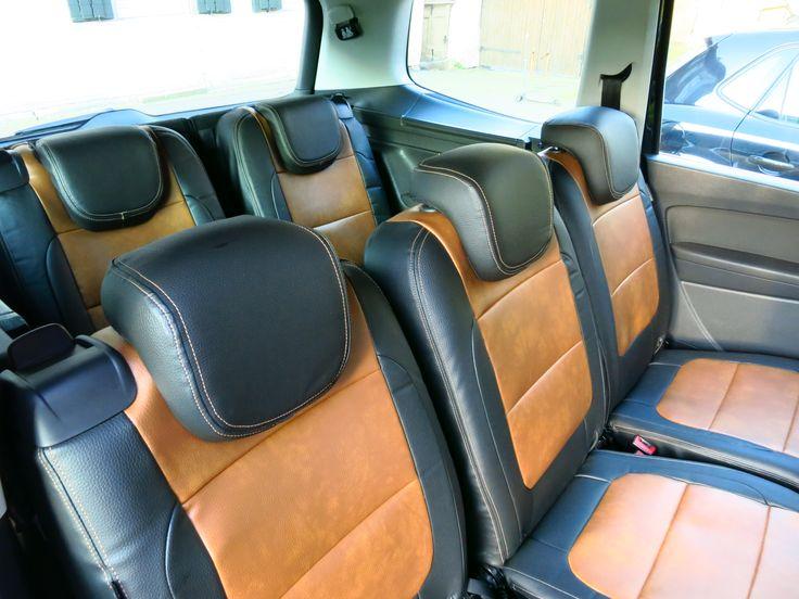 VW  Sharan 7 Sitzer Autositzbezüge nach Maß gefertigt. Die Sitzbezüge wurden über den Originalbezug der Sitze montiert. Alle Funktionen bleiben nach der Montage weiterhin erhalten. Hier wurde die Lederlook gesamt Variante ausgewählt. #Sitzbezüge #VW #Sharan #Tuning #Autositze