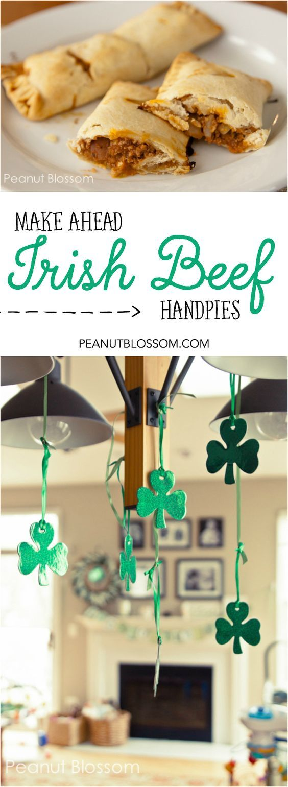 Easy to make ahead and stock your freezer, Irish Beef Handpies. Includes all the essentials! Cabbage, potatoes, and Irish beef. Yum.:
