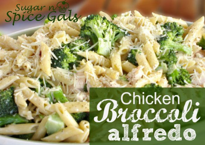 Chicken broccoli alfredo..one of my favorite dishes!