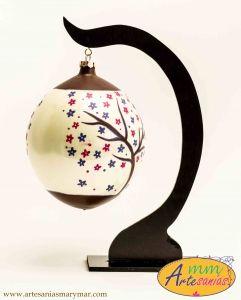 www.artesaniasmarymar.com Base para colgar esfera