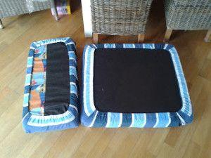 Deze tip is om van de stof een onderhoeslaken te maken en die over je kussens te plaatsen. Deze tip heeft als voordeel dat de stof is afgewerkt