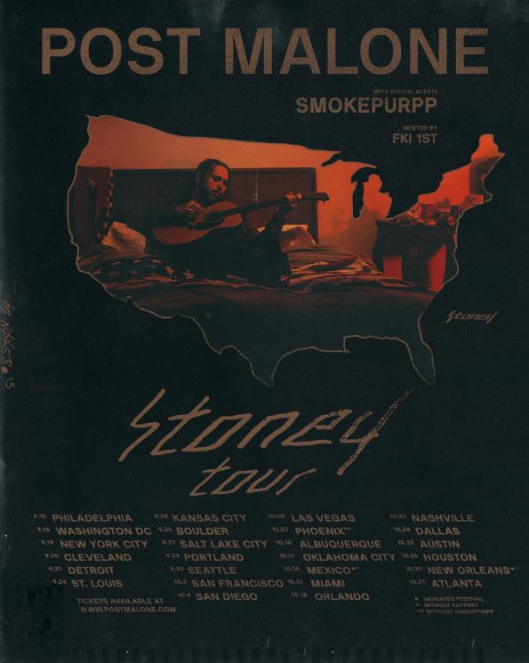 """Post Malone Welcomes Smokepurpp to the """"Stoney Tour"""" This Fall"""