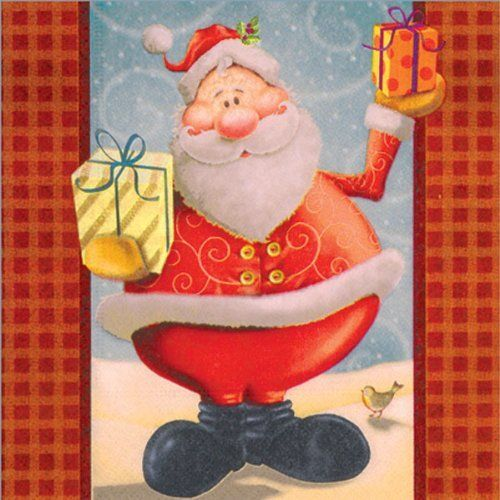 Luxury Father Christmas with Present Napkins by Napkins. $7.27