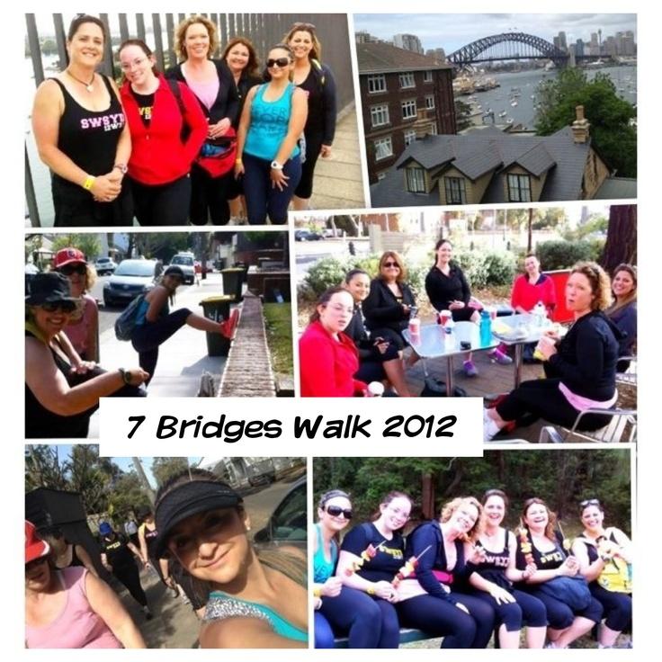 7 Bridges Walk with my South West Sydney 12WBT Friends 2012