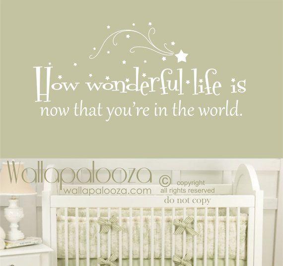 Hoe prachtig leven is nu dat je in de wereld muur sticker - sticker van de muur van de kinderkamer - muur sticker - wall decor - liefde muur sticker