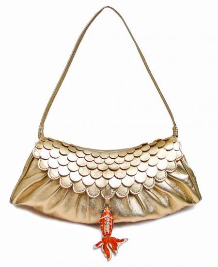 CELINE PARIS GOLD CLUTCH BAG Designer Vintage Bag Main View ...