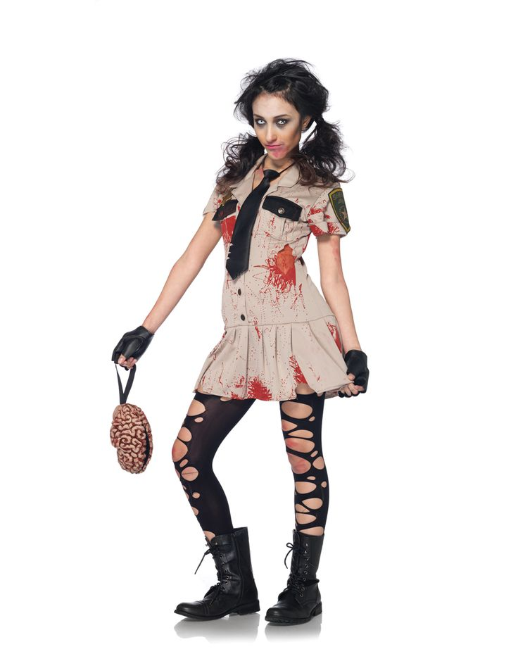 halloween costumes for girls zombie cheerleader. Black Bedroom Furniture Sets. Home Design Ideas