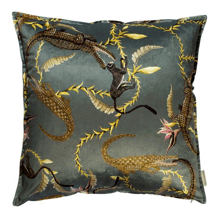 River Chase Silver Ripple Velvet Cushion – Ardmore-Design