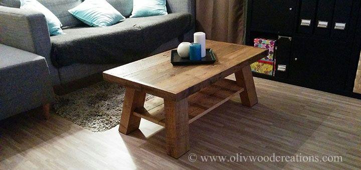 Une table basse en bois de palettes Table basse Pinterest Tables # Table Bois De Palette