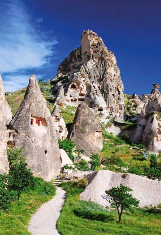 The Cave Cities of Cappadocia, Turkey.