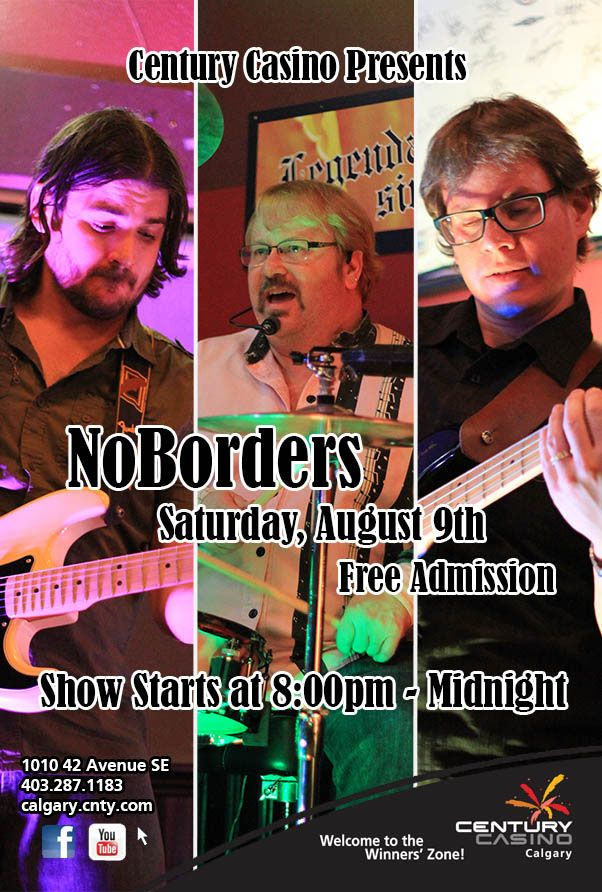 Tonight AUG 9 NoBorders joins us at @CenturyCasinoCa Hope you have Mr Pink's Treats in tote for the merch table!! Brent Bexson & Band hit the stage at 8pm