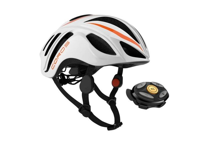 Coros Smart Bicycle Helmet $200 This bicycle helmet has bone-conducting earphones built in so you can safely listen to music or GPS directions while on the road without not blocking out background sounds. Better yet, it tracks your mileage and if you have an accident, the built-in collision detection automatically sends a loved one a message to alert them to a possible accident.