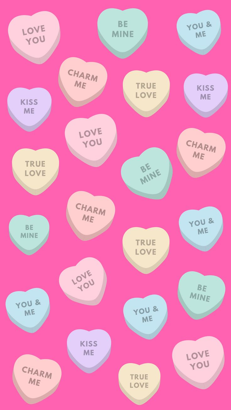 Love Candy Happy Valentine's Day iPhone wallpaper