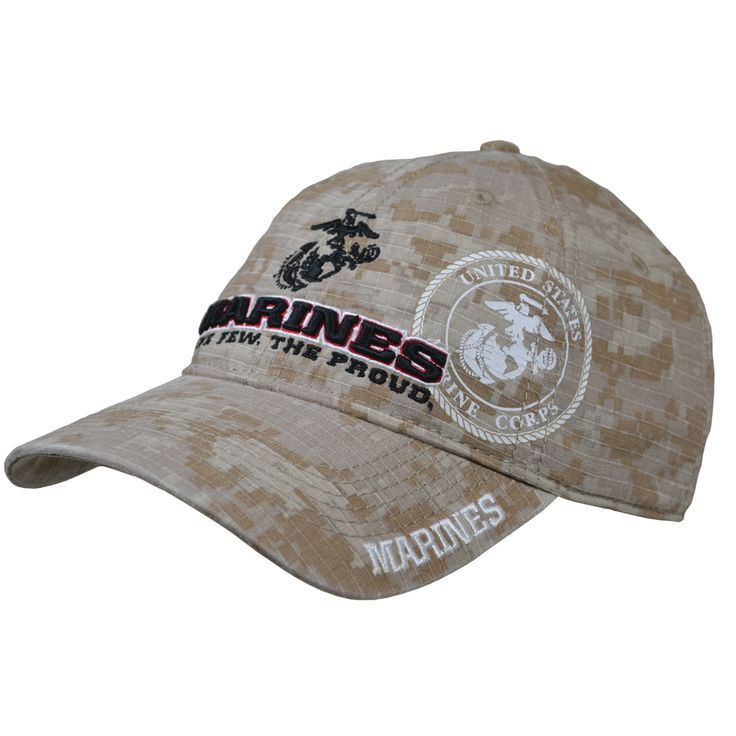 Display your Marine Corps pride and honor with our Marines Digital Desert 3D Shadow Cover/Hat. Order Yours! Features: Made of 100% cotton. Medium profile. Lightweight. One size fits most. Fabric rear size adjustment strap with hook and loop closure. Pre-curved bill. #SgtGrit #Marines