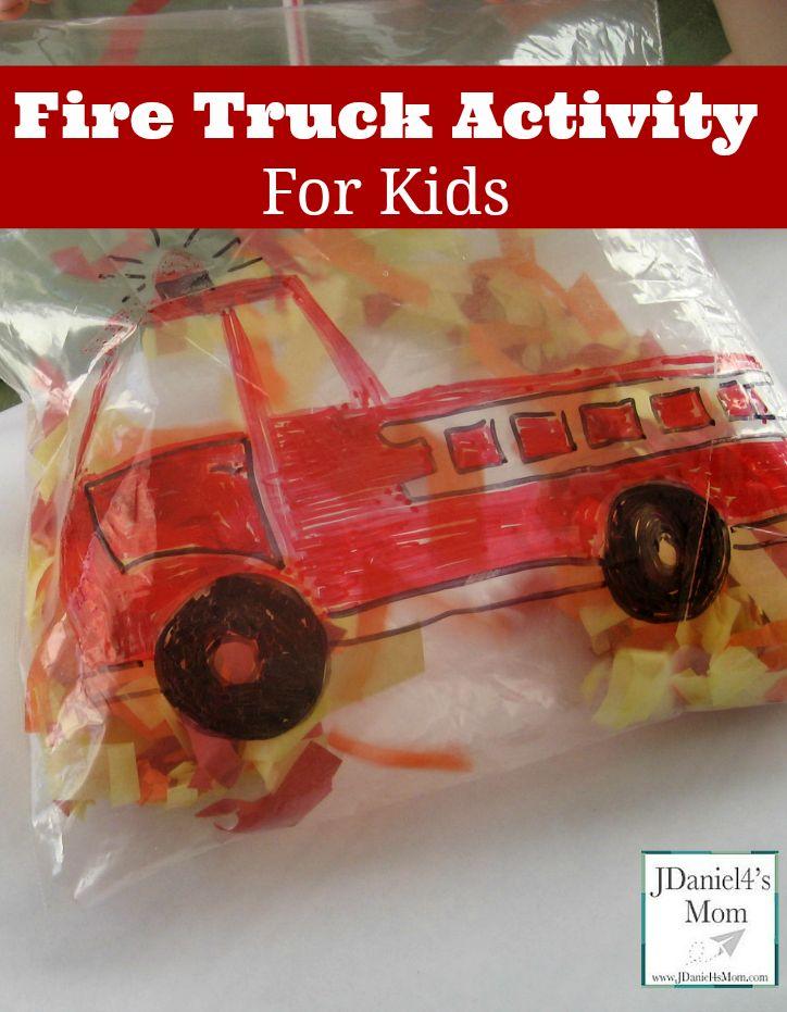 Fire Truck Activity for Kids  http://jdaniel4smom.com/2014/10/fire-truck-activity-for-kids.html