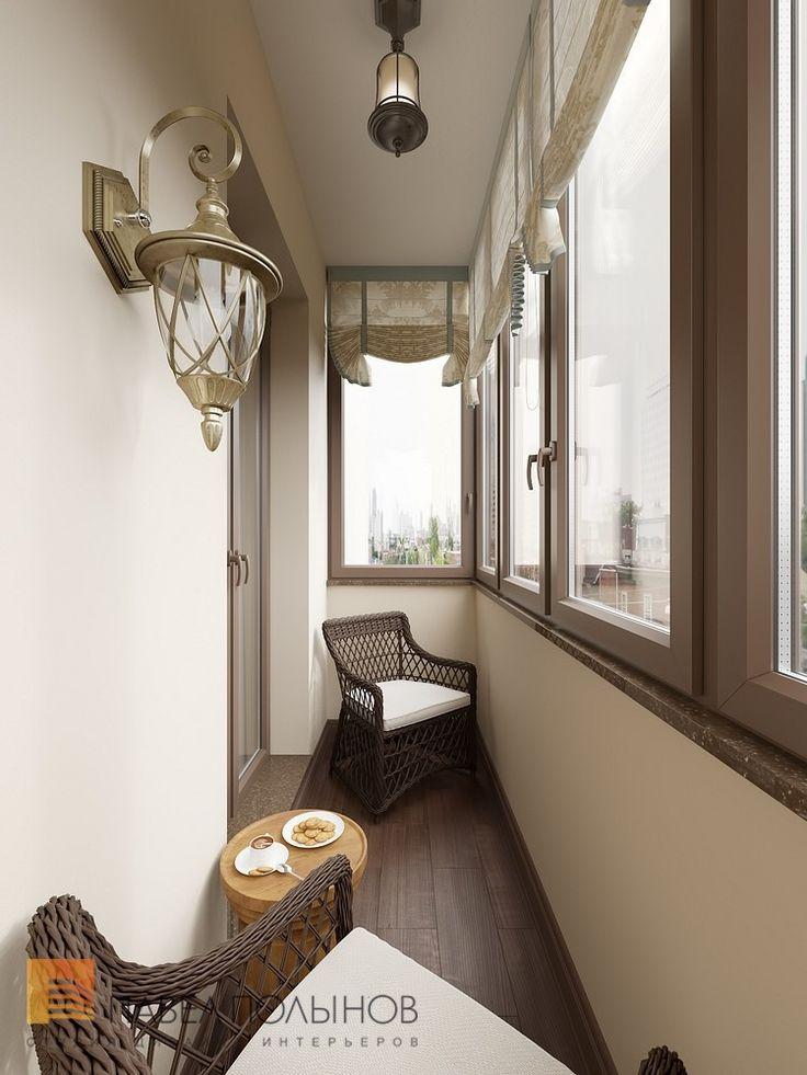 Фото: Лоджия - Интерьер двухкомнатной квартиры в ЖК «Классика», 75 кв.м.