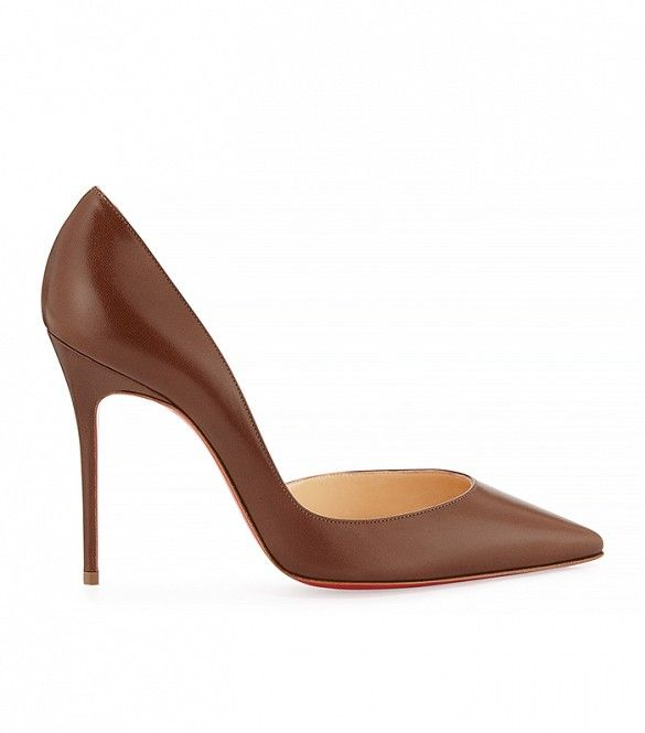 Christian Louboutin Half d'Orsay Leather Pumps in Blush #5 www.ohmyoccasion.com